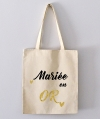 Tote Bag - mariée en or