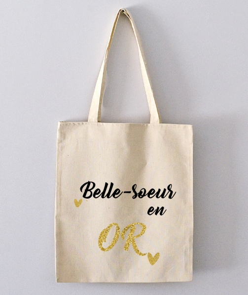Tote Bag - belle-soeur en or