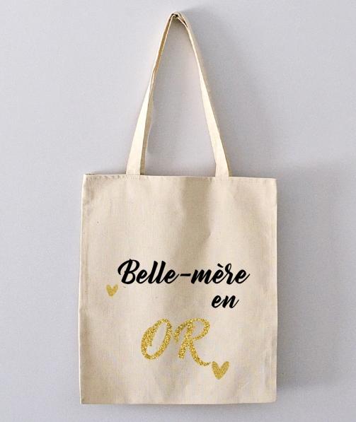 Tote Bag - belle-mère en or