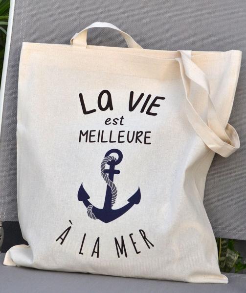 Tote Bag - La vie est meilleure à la mer