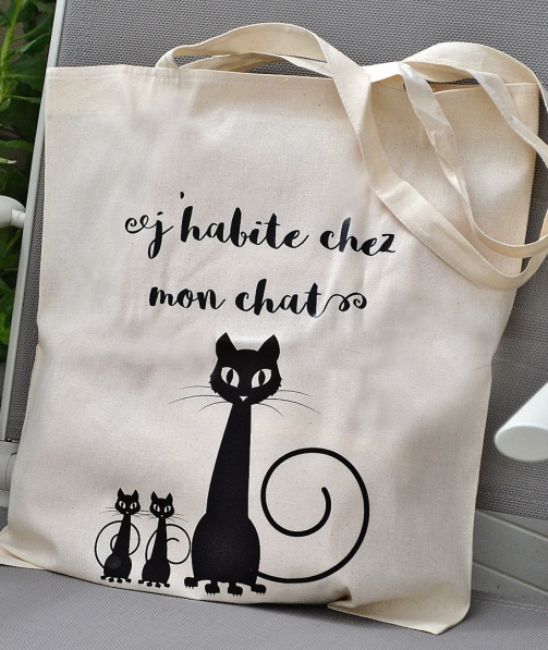 Tote Bag - J'habite chez mon chat