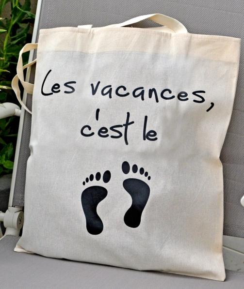 Tote Bag - Les vacances, c'est le pied