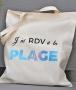 Tote Bag - J'ai RDV à la plage