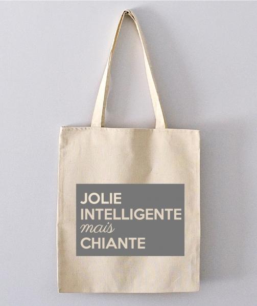 Tote Bag - Jolie, gentille, intelligente mais chiante