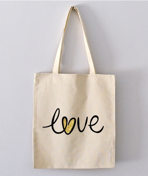 Tote Bag - Love / coeur miellé
