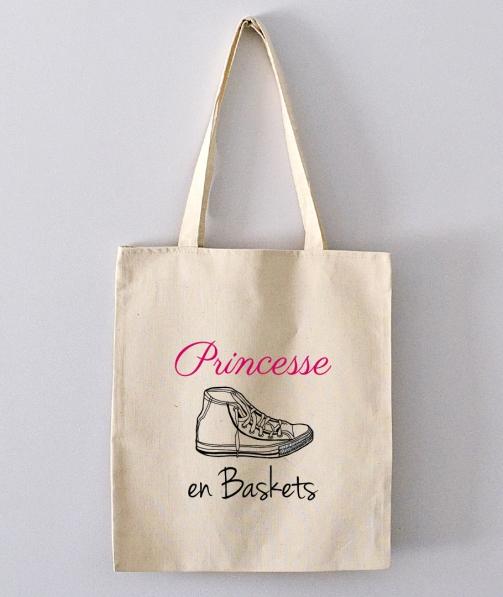 Tote Bag - Princesse en baskets