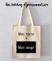 Sac Tote Bag à personnaliser avec Image + Texte
