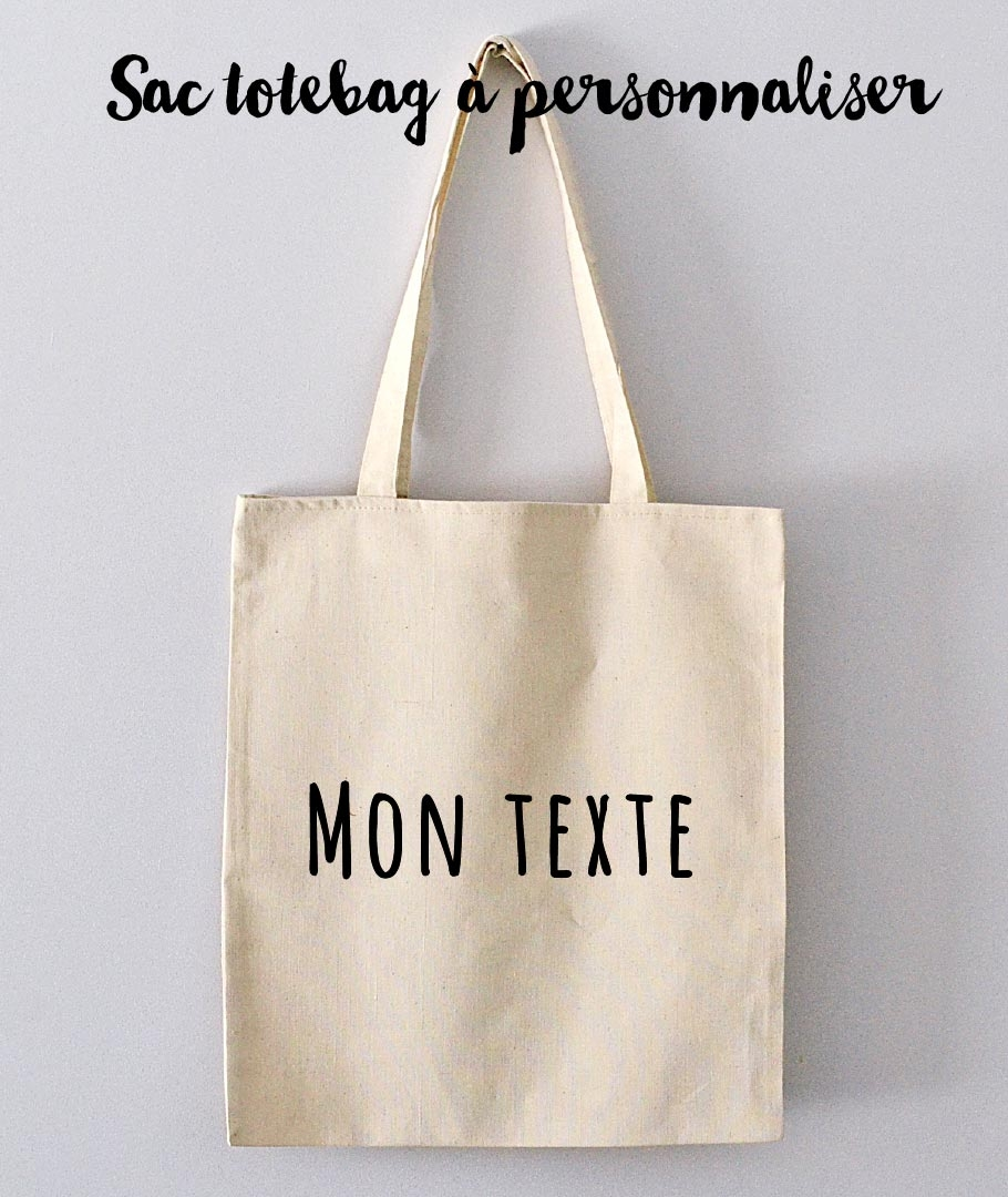 tote bag personnaliser avec texte. Black Bedroom Furniture Sets. Home Design Ideas
